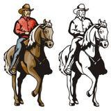Serie occidental de la ilustración Imagenes de archivo