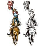 Serie occidentale dell'illustrazione Fotografia Stock Libera da Diritti