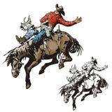Serie occidentale dell'illustrazione illustrazione vettoriale