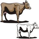 Serie occidentale dell'illustrazione Immagini Stock Libere da Diritti