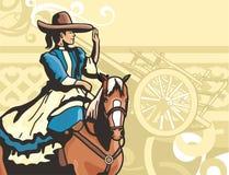 Serie occidentale della priorità bassa royalty illustrazione gratis