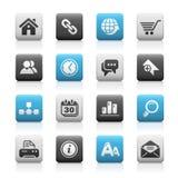 Serie opaca delle icone di // del Internet & di Web site Fotografie Stock