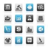 Serie opaca delle icone di // di finanze & di affari Fotografia Stock Libera da Diritti