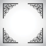 Serie ornamental del marco de la vendimia Imágenes de archivo libres de regalías