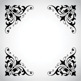 Serie ornamental del marco de la vendimia Imagen de archivo