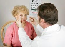 Serie ottica - nuova prescrizione immagini stock libere da diritti