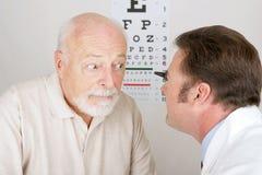 Serie óptica - examen de ojo Fotografía de archivo libre de regalías