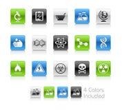 Serie pulita di // delle icone di scienza Fotografia Stock