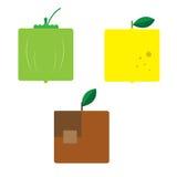 Serie quadrata 4 della frutta Fotografia Stock Libera da Diritti