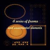 Serie ramy i ornamentacyjni elementy Zdjęcie Royalty Free