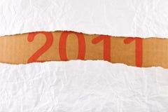 Serie rasgada de la tira de papel - concepto del Año Nuevo Imagen de archivo