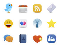 Serie regolare > icone sociali di media Fotografia Stock