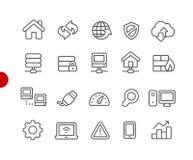Serie roja del punto de Icons //del desarrollador de web stock de ilustración