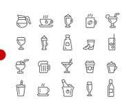 Serie roja del punto de //de los iconos de las bebidas libre illustration
