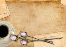 Serie romántica del espacio en blanco de la carta Imágenes de archivo libres de regalías