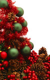 Serie rossa lucida dell'albero di Natale - Tree6 Fotografia Stock