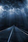 Serie scura - indicatore luminoso nella notte Fotografia Stock