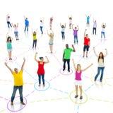 Serie social de la conexión de la comunicación de la red Imagen de archivo libre de regalías