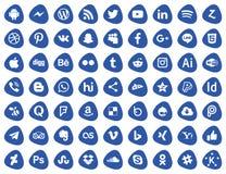 serie social de los iconos medios libre illustration