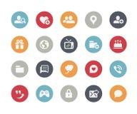 Serie sociale dei classici di //delle icone di comunicazioni illustrazione di stock