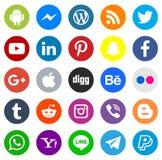 Serie sociale dell'icona di media illustrazione di stock