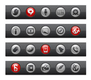 Serie sociale della barra del tasto di // di media Immagini Stock