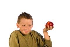 Serie sporca del bambino - Apple per ragazzo Fotografie Stock