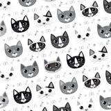 Serie sveglia dell'illustrazione del gatto Immagine Stock