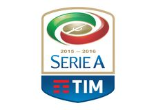 Serie A Tim Logo Old. Football italy red green gold blu vector format aviable ai royalty free illustration