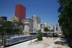 Serie und Chicago-Skyline Stockfotografie