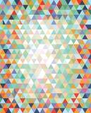 Serie van driehoeken in een verscheidenheid van kleuren Stock Afbeeldingen