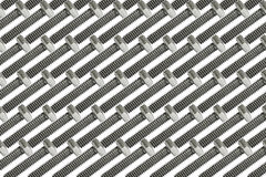 Serie van zilveren machinebouten in een symmetrisch klopje Royalty-vrije Stock Afbeeldingen
