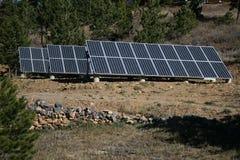 Serie van zonnepanelen Stock Fotografie