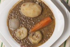Serie vegetariana 04 della lenticchia Fotografie Stock Libere da Diritti
