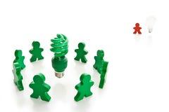 Serie verde andante Immagine Stock