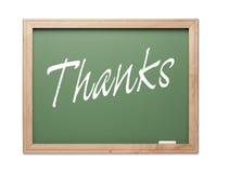Serie verde de la tarjeta de tiza de las gracias Foto de archivo libre de regalías