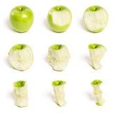 Serie verde del Apple Fotografia Stock