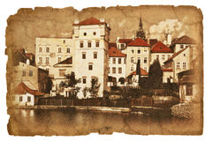 Serie von Illustrationen auf dem alten Papier. Stockfotos