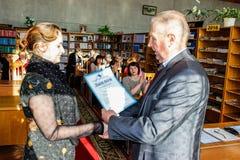 Serie wydarzenia w 2016 na dacie Chernobyl wypadek w Gomel regionie Białoruś Obraz Royalty Free