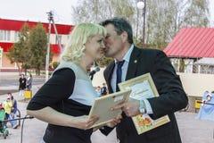 Serie wydarzenia w 2016 na dacie Chernobyl wypadek w Gomel regionie Białoruś Fotografia Stock