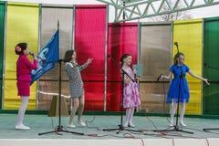 Serie wydarzenia w 2016 na dacie Chernobyl wypadek w Gomel regionie Białoruś Obrazy Stock