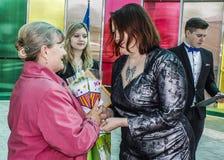 Serie wydarzenia w 2016 na dacie Chernobyl wypadek w Gomel regionie Białoruś Zdjęcie Stock