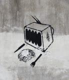 Seriella grafitti Royaltyfri Fotografi