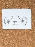 Serien av japanska emoticons kallade Kaomoji, innehåll Royaltyfria Bilder