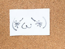 Serien av japanska emoticons kallade Kaomoji, innehåll Royaltyfri Bild