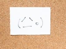 Serien av japanska emoticons kallade Kaomoji som gråter Royaltyfri Fotografi