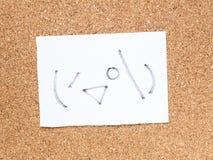 Serien av japanska emoticons kallade Kaomoji som kikar Arkivbild