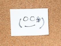 Serien av japanska emoticons kallade Kaomoji som ler Arkivfoton