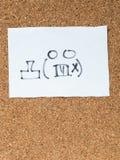 Serien av japanska emoticons kallade Kaomoji som var ilsken Arkivbilder