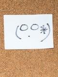 Serien av japanska emoticons kallade Kaomoji som var konstig Arkivfoto